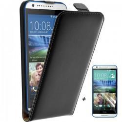Torbica za HTC Desire 620 Preklopna Priložena folija ekrana Črna barva