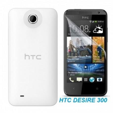 Silikon etui za HTC Desire 300 +Folija ekrana, transparentno svetla