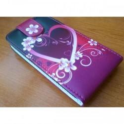 Etui za HTC Desire 300 Preklopna + Zaščitna folija ekrana ,Lady - Heart