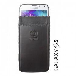 Etui za Samsung Galaxy S5 Bugatti Premium Črna barva. Pull Up