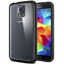 Etui za Samsung Galaxy S5 Ultra Hybrid zadnji pokrovček Spigen Black+Folija
