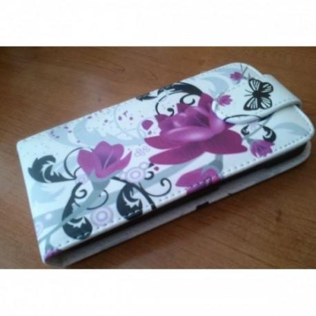 Etui za HTC Desire 300 Preklopna + Zaščitna folija ekrana ,Lady -Rose
