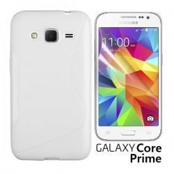 Silikon etui za Samsung Galaxy Core Prime +Folija ekrana Bela barva