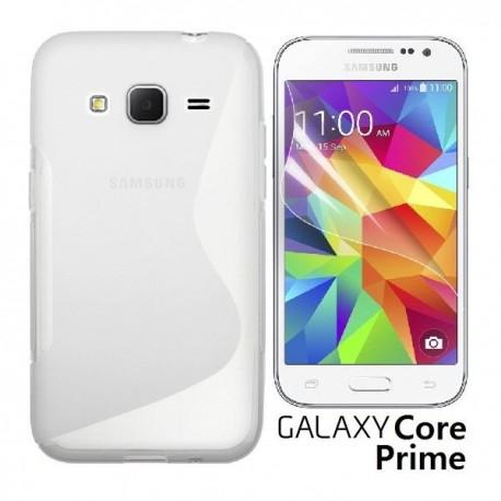 Silikon etui za Samsung Galaxy Core Prime +Folija ekrana Transparent barva