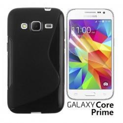Silikon etui za Samsung Galaxy Core Prime +Folija ekrana Črna barva