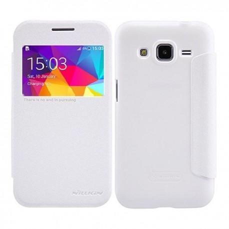 Preklopna Torbica Nillkin za Samsung Galaxy Core Prime S-View Bela barva