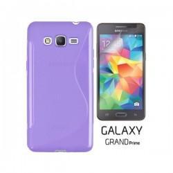 Silikon etui za Samsung Galaxy Grand Prime +Folija ekrana Vijola barva