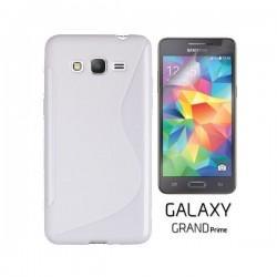 Silikon etui za Samsung Galaxy Grand Prime +Folija ekrana Bela barva