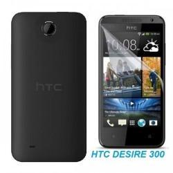 Silikon etui za HTC Desire 300 +Folija ekrana, transparentno temna