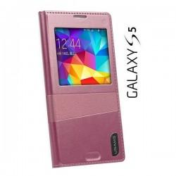 Torbica USAMS za Samsung Galaxy S5 Window View Design Pink barva