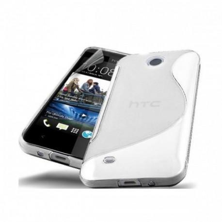 Silikon etui za HTC Desire 300 +zaščitna folija ,Transparent barva
