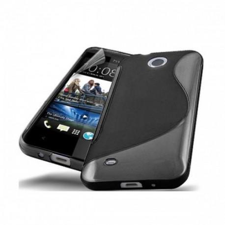 Silikon etui za HTC Desire 300 +zaščitna folija ,Črna barva