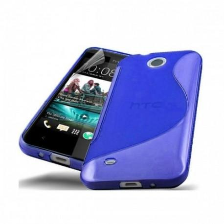 Silikon etui za HTC Desire 300 +zaščitna folija ,Modra barva