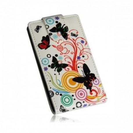 Etui za HTC Desire 300 + Zaščitna folija ekrana ,Lady - Butterfly