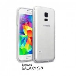 Silikon etui za Samsung Galaxy S5 +Folija ekrana TPU 0,3mm Transparent barva