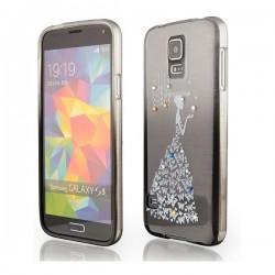 Silikon etui za Samsung Galaxy S5 +Folija ekrana Lady Črna