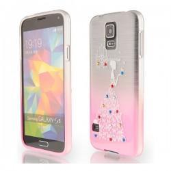 Silikon etui za Samsung Galaxy S5 +Folija ekrana Lady Pink