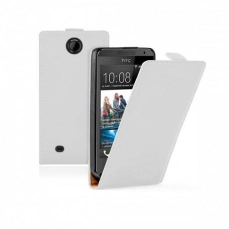 Etui a HTC Desire 300 + zaščitna folija ekrana, Bela barva