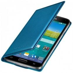 Torbica za Samsung Galaxy S5 Original Flip EF-WG900BE Modra barva Electric Blue