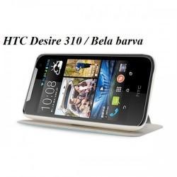 Torbica za HTC Desire 310 Preklopna Bela barva