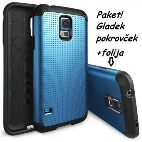 Etui za Samsung Galaxy S5 Ringke Slim Armor Electric Blue