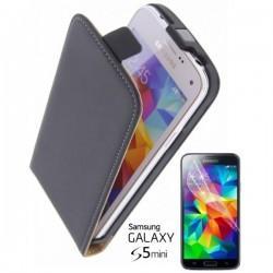 Torbica za Samsung Galaxy S5 Mini Preklopna + Zaščitna folija ekrana ,Črna barva