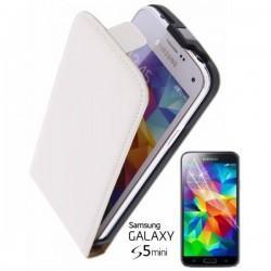 Torbica za Samsung Galaxy S5 Mini Preklopna + Zaščitna folija ekrana ,Bela barva