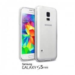 Silikon Etui Jekod za Samsung Galaxy S5 Mini + zaščitna folija ekrana Prozorno bela mat  barva
