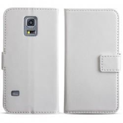 Torbica flip za Samsung Galaxy S5 Mini Preklopna Bela barva+Folija ekrana