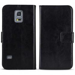 Torbica flip za Samsung Galaxy S5 Mini Preklopna Črna barva+Folija ekrana
