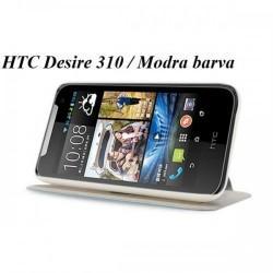 Torbica za HTC Desire 310 Preklopna Modra barva