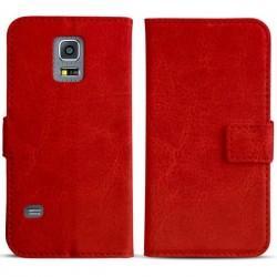Torbica flip za Samsung Galaxy S5 Mini Preklopna Rdeča barva+Folija ekrana