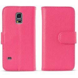 Torbica flip za Samsung Galaxy S5 Mini Preklopna Pink barva+Folija ekrana
