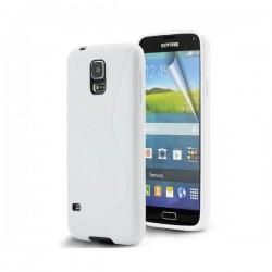 Silikon etui za Samsung Galaxy S5 Mini +Folija ekrana Bela barva