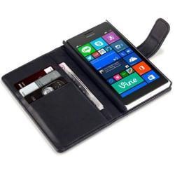 Preklopna Torbica Fancy za Nokia Lumia 735 Črna barva