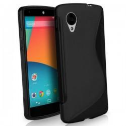 Silikon etui za LG Nexus 5 +Folija ekrana Črna barva