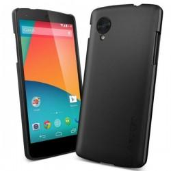 Etui za Nexus 5 Ultra Fit zadnji pokrovček Spigen Smooth Black