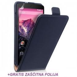 Preklopna Torbica za LG Nexus 5 +Gratis folija ekrana Črna barva