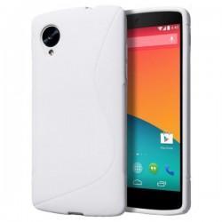 Silikon etui za LG Nexus 5 +Folija ekrana Bela barva