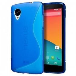 Silikon etui za LG Nexus 5 +Folija ekrana Modra barva