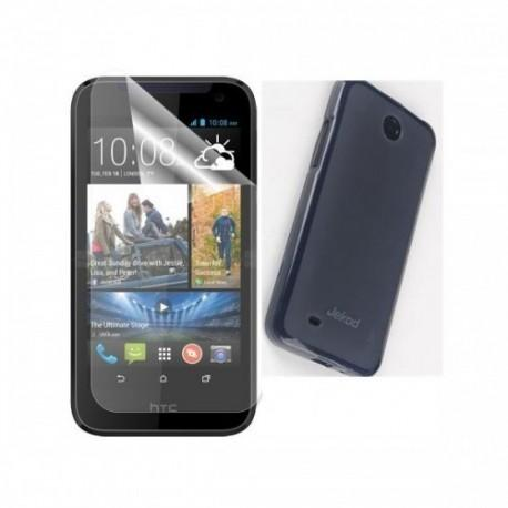 Silikon etui za HTC Desire 310 +Folija ekrana,Temna barva