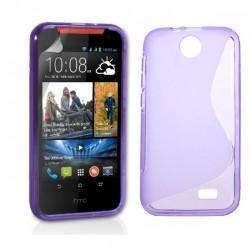 Silikon etui za HTC Desire 310 +Folija ekrana Vijola barva