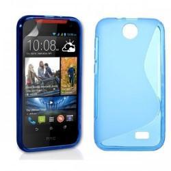 Silikon etui za HTC Desire 310 +Folija ekrana Modra barva