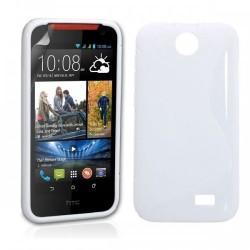 Silikon etui za HTC Desire 310 +Folija ekrana Bela barva