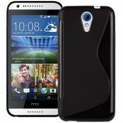 Silikon etui za HTC Desire 620 priložena Folija ekrana Črna barva