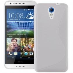 Silikon etui za HTC Desire 620 priložena Folija ekrana Bela barva