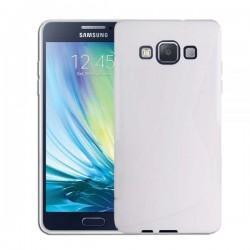 Silikon etui za Samsung Galaxy A5 Priložena Folija ekrana Bela barva
