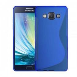 Silikon etui za Samsung Galaxy A5 Priložena Folija ekrana Modra barva