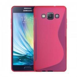 Silikon etui za Samsung Galaxy A5 Priložena Folija ekrana Pink barva