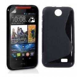 Silikon etui za HTC Desire 310 +Folija ekrana Črna barva